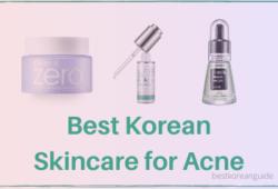 Best Korean Skincare for Acne