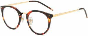 TIJN Vintage Round Metal Optical Eyewear Non-prescription Eyeglasses Frame for Women reviews