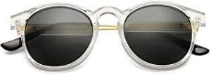 Clear Lens Glasses Round Sunglasses For Women and Men Circle Sun Glasses UV400 reviews