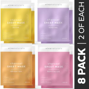 Face Mask for Korean Skincare - Sheet Mask for Detoxifying, Cleansing, Moisturizing and Brightening Skin, Dermatologist Tested Charcoal Face Mask reviews