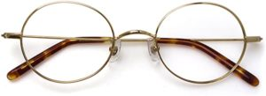 Komehachi - Ultra Light Slim Round Metal RX-Ready Clear Lens Eyeglasses Framereviews