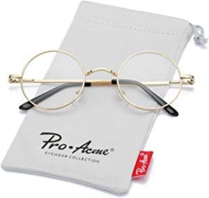 Pro Acme Retro Round Metal Frame Clear Lens Glasses Non-Prescriptionreviews