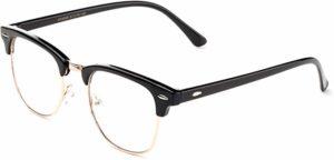 Vintage Inspired Classic Half Frame Horn Rimmed Clear Lens Glassesreviews