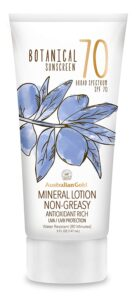 Australian Gold Botanical Sunscreen Mineral Lotion reviews and user guide